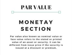 par value/ face value